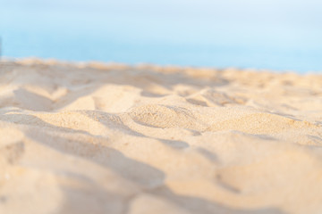 Empty sea and beach sand with soft focus