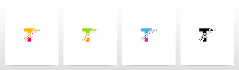 Fototapeta Eroded Particle On Letter Logo Design T obraz