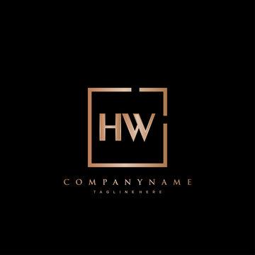 HW Initial Luxury logo vector.