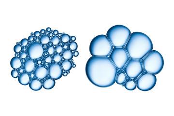 Soap bubbles texture.