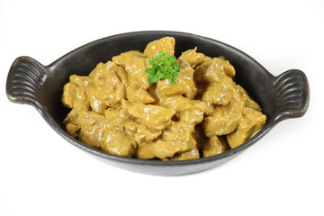 Wall Mural - meat cooked in curry and coconut milk