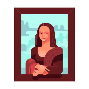 Stylized picture of Mona Lisa.