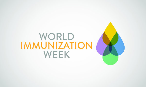 Vector illustration on the theme of World Immunization week observed in last week of April from 24th to 30th.
