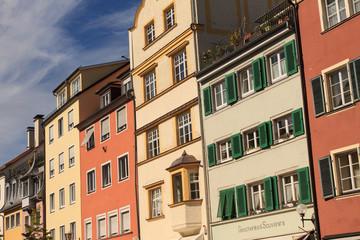 Fassaden an der Maximilianstrasse in Lindau (Bodensee)