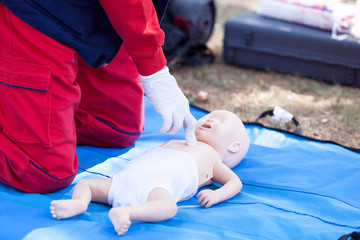 Baby first aid and CPR training