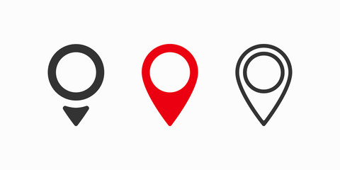 Red maps pin. Location map icon. Location pin. Vector icon Fotomurales