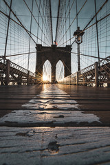 Tuinposter Brooklyn Bridge Sunrise on Brooklyn bridge