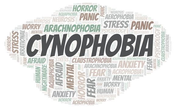 Cynophobia word cloud.