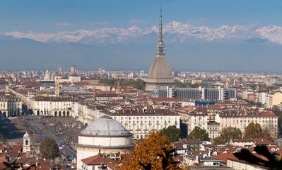 Italy, Turin, Mole Antonelliana and Gran Madre di Dio