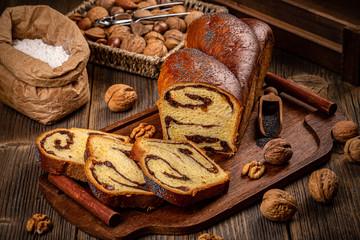 Homemade braided bread