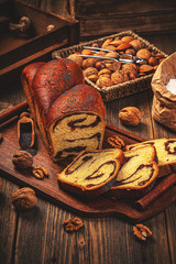 Sweet homemade braided bread