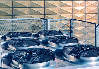 Cooling industrial air conditioning