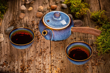 Chinese blue tea pot