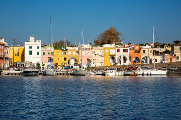 Procida (Italy) - Chiaiolella bay with its colored houses