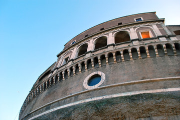 view of the Castel Sant'Angelo Rome Italy
