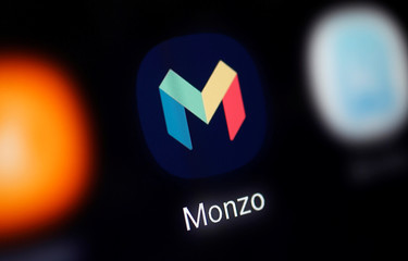 A Monzo logo is seen in this illustration