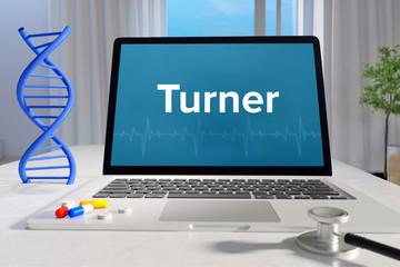 Turner – Medizin/Gesundheit. Computer im Büro mit Begriff auf dem Bildschirm. Arzt/Gesundheitswesen