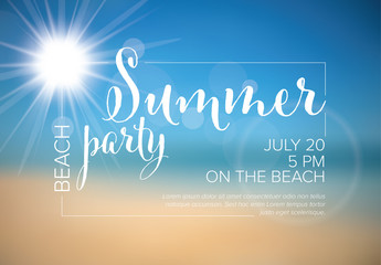Summer Party Poster Layout