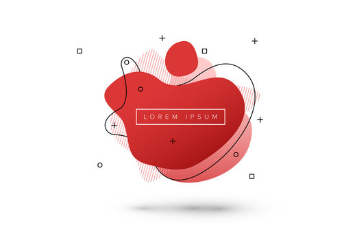 Modern Red Abstract Amoeba Graphic Layout