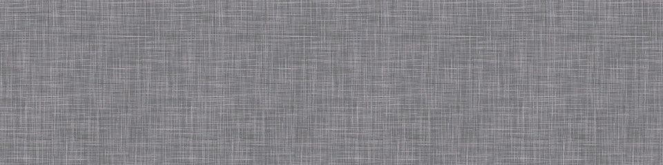 Obraz Natural anthracite gray french woven linen texture border background. Old raw flax fibre seamless pattern. Organic yarn close up weave fabric ribbon trim. Ecru grey fine canvas. Cloth effect banner - fototapety do salonu