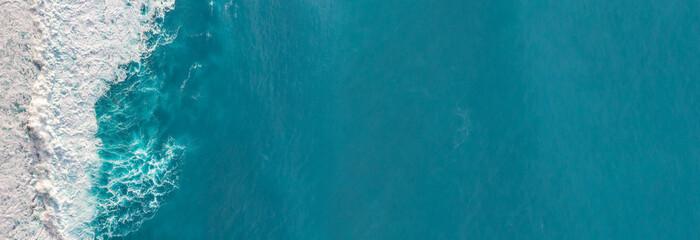 Aerial view to waves in ocean Splashing Waves. Fotomurales