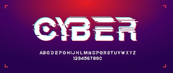 Futuristic bold typefce in minimalistic style.