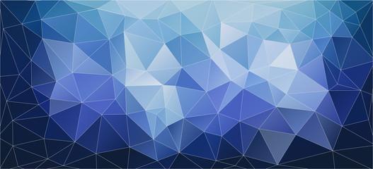 Flat blue geometric triangle wallpaper. Vector background