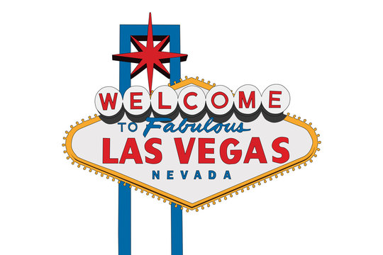 Vector of the Welcome to Fabulous Las Vegas sign with white background.