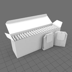 Open tea box with tea bags
