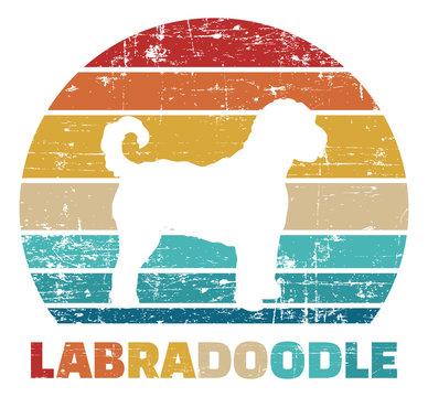 Labradoodle vintage color