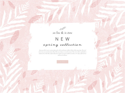 social media banner template for advertising spring arrivals collection or seasonal sales promotion.