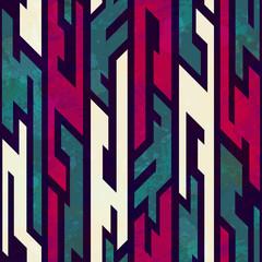 grunge tribal geometric seamless pattern
