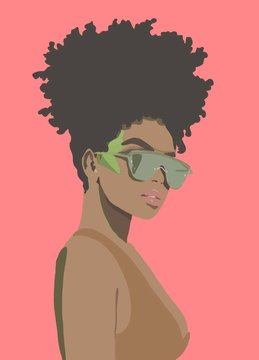 portrait of a afro black girl