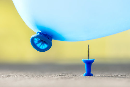 Burst your bubble thumbtack and balloon background