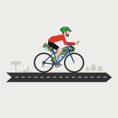 Bikepacking rider, gravel