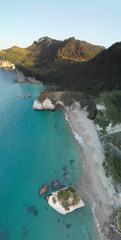 Printed roller blinds Cathedral Cove Aerial view of Cathedral Cove at sunset, Coromandel Peninsula, New Zealand