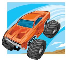 Monster truck jump