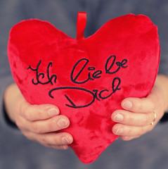 rotes Herz - ich liebe dich