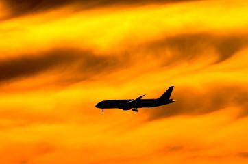 Jetliner,Sky Travel,旅客機,スカイ Fotobehang