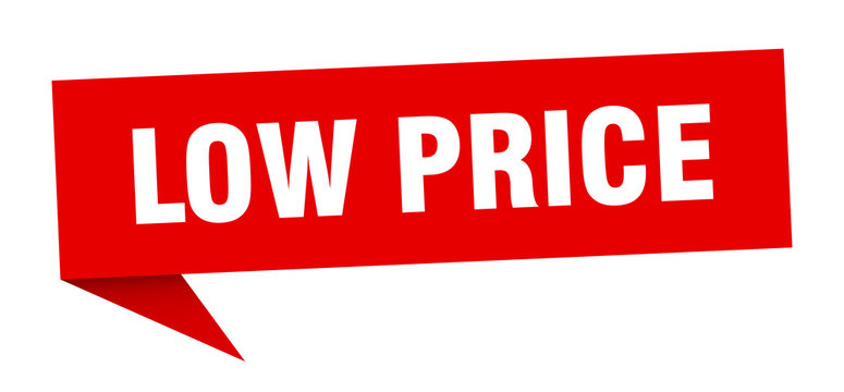 low price speech bubble. low price ribbon sign. low price banner