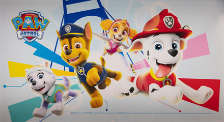 COLOGNE, February 2020: Paw patrol franchise at ISM trade fair