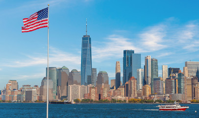 Fotomurales - Manhattan city skyline in New York City USA