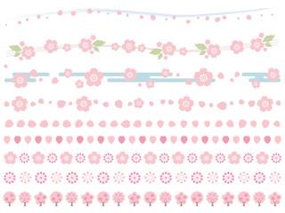 ライン_桜_セット
