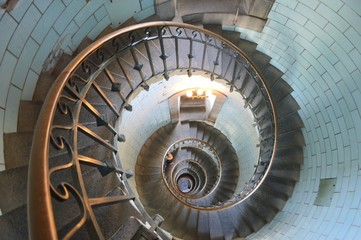 Foto op Plexiglas Spiraal phare d eckmuhl finistère bretagne