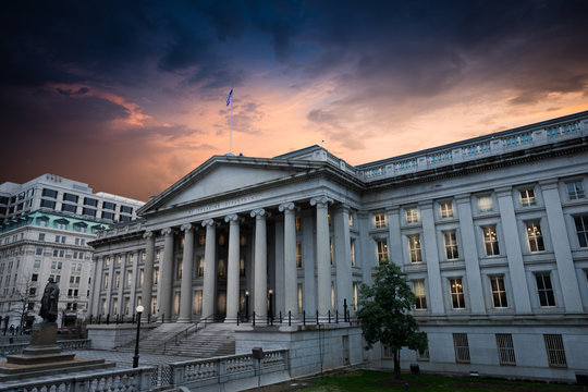 Exterior of United States Department of Treasury