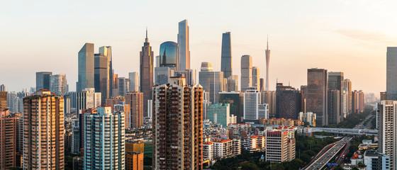 Fototapeten Lachs Guangzhou city skyline