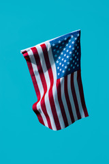 american flag on a blue background