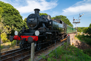 A steam train near Havenstreet on the Isle of Wight