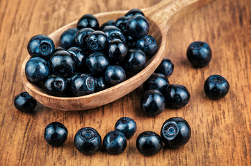 ripe and sweet blueberries