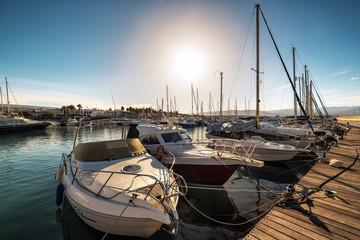 yachts in the port of the mediterranean sea